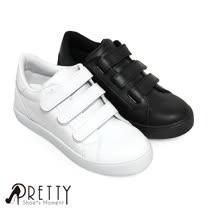 【Pretty】百搭魔鬼氈內增高休閒鞋