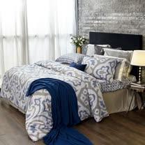 BBL華麗典藏100%萊賽爾纖維(天絲).印花加大兩用被床包組
