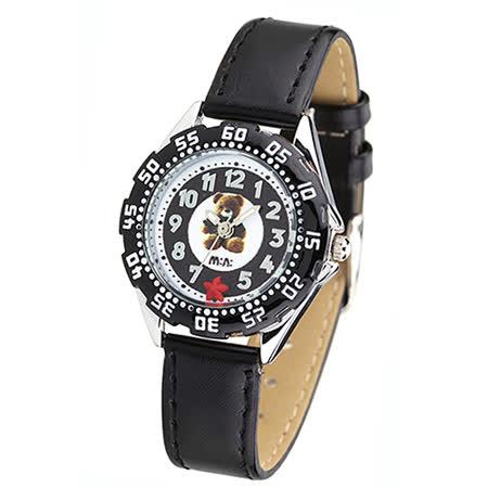 【韩国MINI 】手工软陶创意手表-可爱熊(黑)
