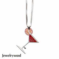 Jewelrywood 午夜狂歡雞尾酒杯項鍊(蔓越莓)