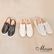 【Messa米莎專櫃女鞋】MIT 可愛兔耳內真皮厚底休閒鞋-三色