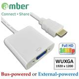 amber HDMI 轉 VGA 訊號轉換器 含3.5mm音源及電源供應 可支援DVD PS3/PS4 APPLE TV MHL XBOX360