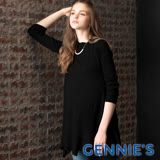 Gennies奇妮-彈力不規則針織上衣(黑CSA01)