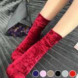 【PS Mall】創意時尚金絲絨彈力中筒襪襪子 2入 (J1045)