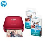 ★超值組合包★ HP Sprocket 口袋相印機 (艷夏紅)+相紙*2