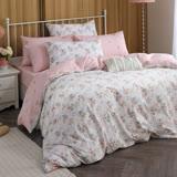 MONTAGUT-莫利沃斯-100%純棉兩用被床包組(雙人)+贈1被1毯