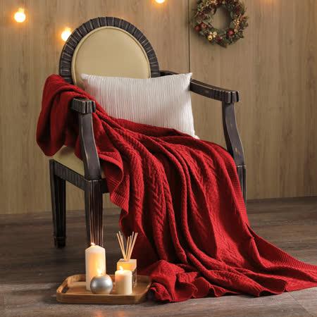 MONTAGUT-针织毛线毯(红色)