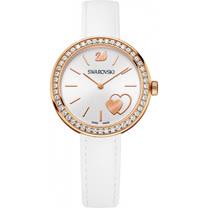 施華洛世奇SWAROVSKI 心心相隨到永遠時尚優質秀麗腕錶-玫瑰金+白-5179367
