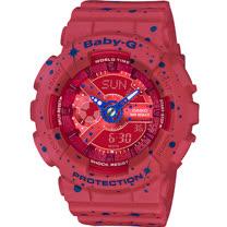 BABY-G 宇宙星空運動錶 BA-110ST-4A 紅色