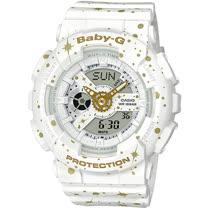 BABY-G 宇宙星空運動錶 BA-110ST-7A 白色