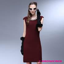 【SHOWCASE】V型削肩針織洋裝(共三色)