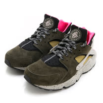 NIKE 男 休閒鞋 NIKE AIR HUARACHE RUN PRM 綠 -704830010
