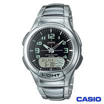 CASIO卡西歐  經典雙顯多功能不鏽鋼帶運動手錶 AQ-180WD-1B