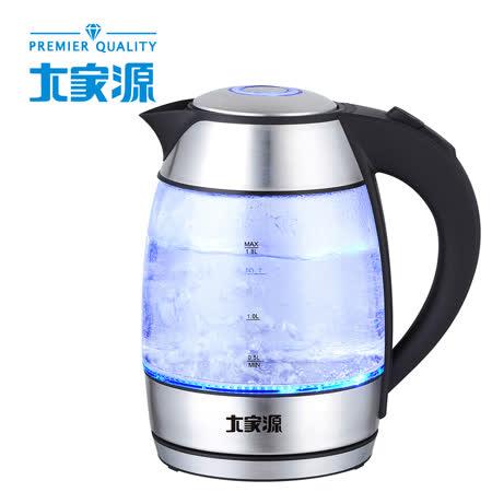 【大家源】1.8L炫藍玻璃快煮壺TCY-2658