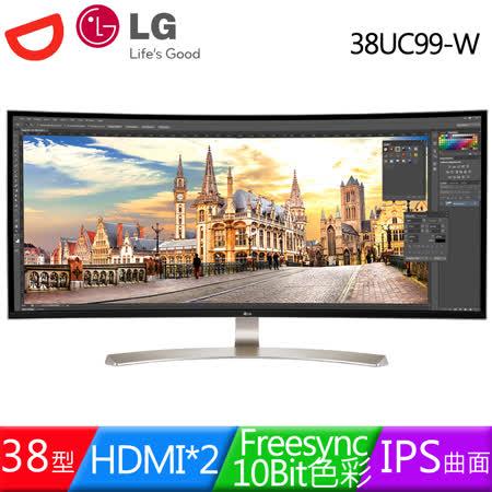LG樂金 38UC99-W 38型IPS曲面10Bit 21:9電競液晶螢幕