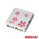 (三組入)WEICHU 櫻花戀_HU-500W USB2.0 HUB 集線器