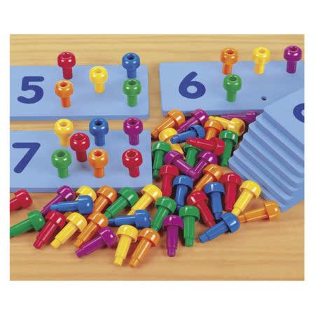 【華森葳兒童教玩具】數學教具系列-點數插棒 N8-TT625