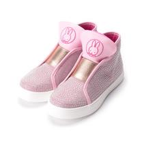 (大童) MIFFY 米飛兔鑽石半筒中休閒鞋 粉 童鞋 鞋全家福