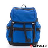 美國AIRWALK - 尼龍防潑水大後背包-藍