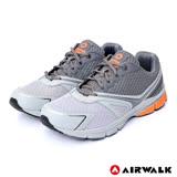 【AIRWALK】網布透氣休閒運動鞋-男款(灰色)