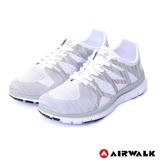 【AIRWALK】流線編織休閒運動鞋-女款(白色)