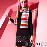 品特*Gennies奇妮-低調氣息舒適彈性繞頸針織秋冬孕婦洋裝(兩色可選GSY01)