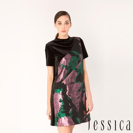 JESSICA - 潑墨拼接設計洋裝