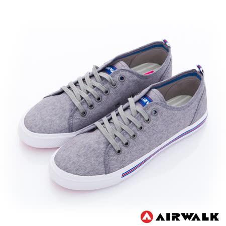 【美國 AIRWALK】美式百搭休閒帆布鞋-女款(灰色)