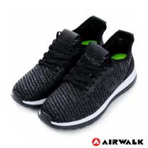 【美國AIRWALK】網眼透氣輕量慢跑鞋運動鞋-女(黑)