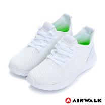 【美國AIRWALK】網眼透氣輕量慢跑鞋運動鞋-女(白)