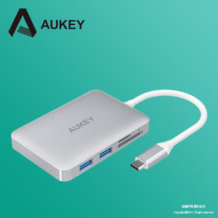 【AUKEY】CB-C49 USB-C to USB3.0/HDMI/SD/microSD 多功能充電集線器+PD回充