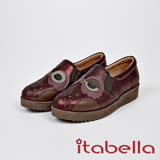 itabella.甜美可愛-貓頭鷹造型牛皮包鞋(7572-60紅)