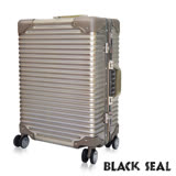 BLACK SEAL 專利霧面橫條紋29吋防刮耐撞鋁框旅行箱/行李箱-沙灘金 BS258