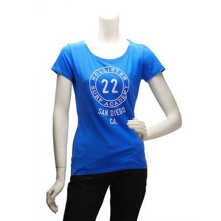 HOLLISTER Co. 22貼布繡字款短T(女-淡藍-S)