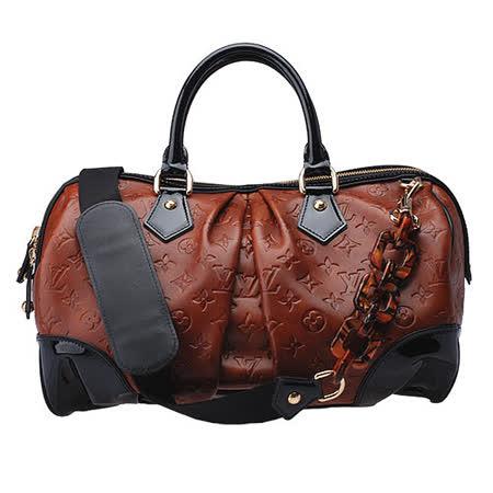 LV M95299 潮流時尚手提/肩背旅行袋(棕X黑)
