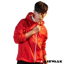 【AIRWALK】男款連帽風衣外套-紅色