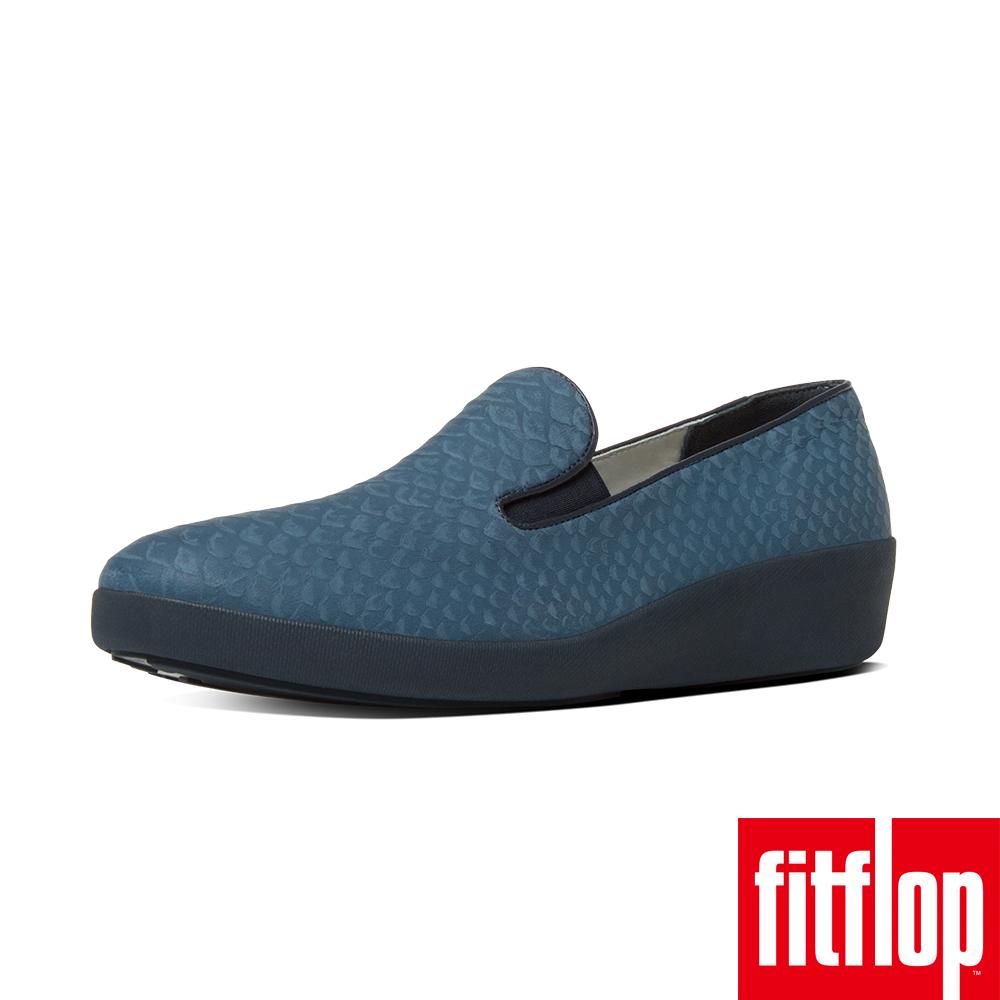 FitFlop™~ 女款 UBERKNIT™ SLIP~ON BALLERINA~午夜藍
