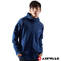 【AIRWALK】男款連帽中厚外套-深藍色