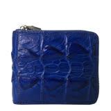 【M2nd】義式浪漫鱷魚皮短夾(藍色)
