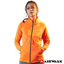 【AIRWALK】女款立領外套-中橘色