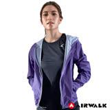 【AIRWALK】女款連帽風衣外套-紫色