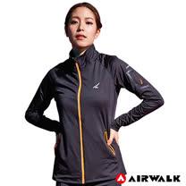 【AIRWALK】女款立領外套-黑色