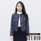 EPISODE Studio - 香奈兒格紋設計外套(藍)