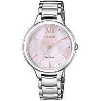 CITIZEN Hebe廣告款 L系列 愛神來尋光動能時尚優質腕錶-銀-EM0558-81Y