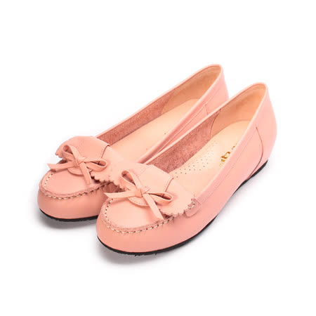 (女) Good-Day 真皮反折小結內增高鞋 粉 女鞋 鞋全家福