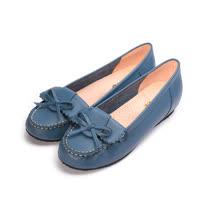 (女) Good-Day 真皮反折小結內增高鞋 藍女鞋 鞋全家福