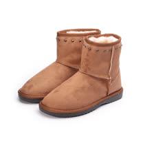 (女) RIN RIN 鉚釘口雪靴 棕 女鞋 鞋全家福