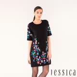 JESSICA - 美麗諾羊毛花朵刺繡洋裝