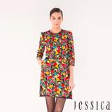 JESSICA - 瑰麗花語滿版花卉設計洋裝