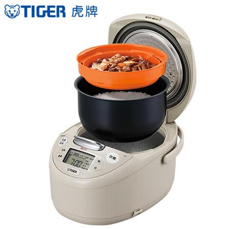 TIGER虎牌 日本製10人份tacook微電腦多功能炊飯電子鍋(JAX-R18R)買就送虎牌380CC保冷保溫食物罐+料理專用食譜